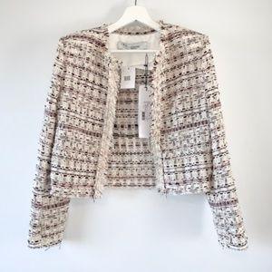 🆕 IRO Locali Tweed Jacket with fringe